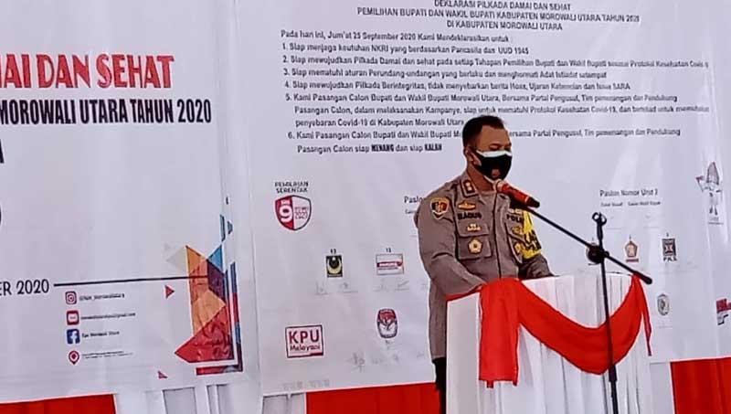 Deklarasi Pilkada Damai Dan Sehat Pemilihan Bupati Dan Wakil Bupati Morut