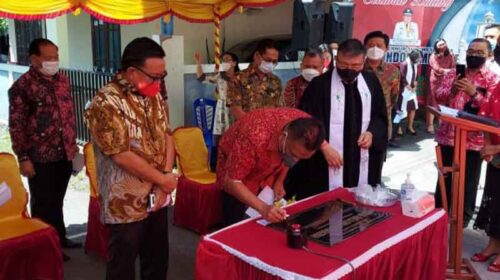 Resmikan Gedung GMIM Citra Anugerah Bitung,Ini Pesan Gubernur Olly