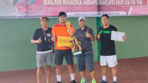 Tim PELTI Sulut Jawara Kejuaraan Tenis Piala Pangdam XIII Merdeka